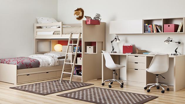 Dormitorios Juveniles En L. Dormitorio Juvenil Con Cama Nido Perla Y ...