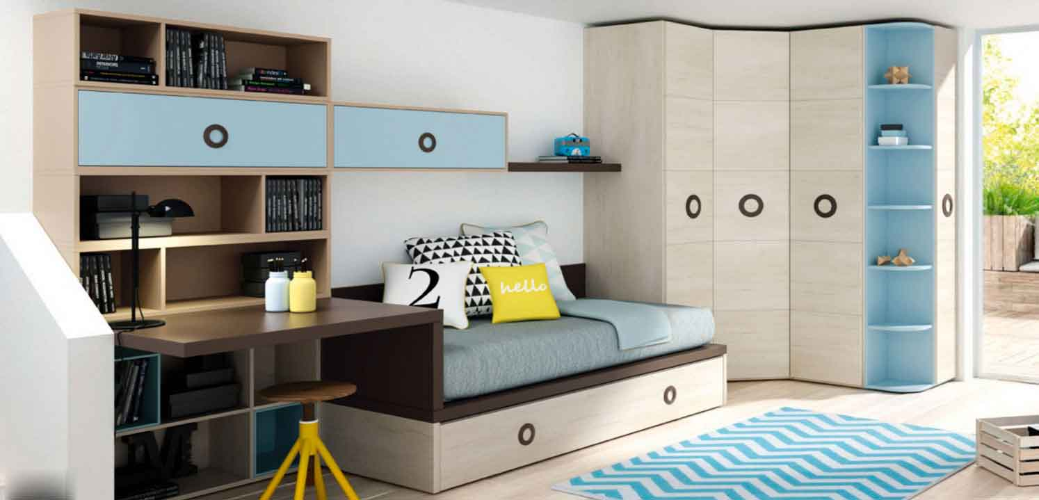Lagrama una de nuestras opciones en mueble juvenil barbed for Distribucion habitacion juvenil